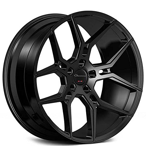"20 Inch Rims - Black Wheels - STAGGERED - Set of 4 Rims - Made for MAX Performance - Fits ALL Cars - Racing Wheels for Challenger, Mustang, Camaro, BMW, and More! (20x9"" x 20x10.5"") - Giovanna Haleb"