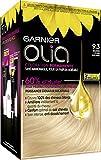 Garnier Coloration Permanente, Sans Ammoniaque, Aux Huiles Naturelles de Fleurs, Blond Clair Solaire (9.3), Olia