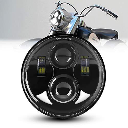 AAIWA Motorrad Scheinwerfer, 5,75 Zoll 45W LED Scheinwerfer mit DRL Scheinwerfer Projektor Fahrlicht für Motorrad