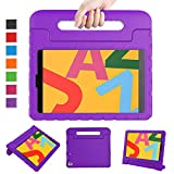 LTROP Case for New iPad 10.2-Inch 2019 7th Generation for Kids, Shock Proof Light Weight Handle Stand Kids Case for Apple iPad 10.2' 2019 Latest Model and Air 3 - Purple