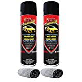 Dry Shine Waterless Wash & Wax 2 Pack + 2 Premium Microfiber Cloths - Detailing Spray for Car, Truck, Boat, RV & Motorcycle