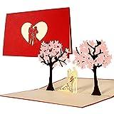 Tarjeta de felicitacin de boda e invitacin, elegante, original, como regalo para boda, tarjeta de boda con sobre y diseo en relieve, L10