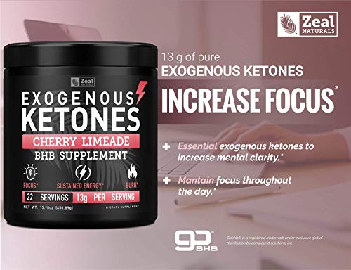 Pure Exogenous Ketones BHB Powder | Cherry Limeade (13g | 22 Servings) Best Tasting Keto Drink with BHB Salts Beta Hydroxybutyrate Supplement - Keto Powder for Weight Loss, Energy & Ignite Ketosis 7