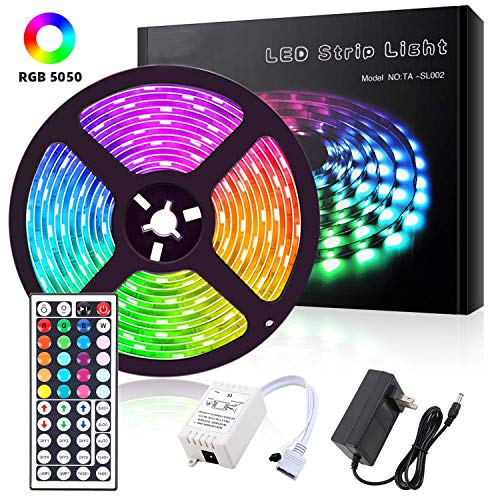 ALFLASH Striscia LED 5M 16.4FT RGB Musica Strisce IP65 impermeabile Impermeabile...