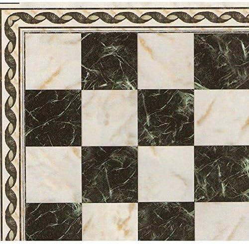 Melody Jane Dollhouse Spanish Tile Floor Black White Cream Gloss Card Flooring Sheet