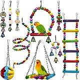10 Juguetes para Pájaros para Loros, Periquitos, Pinzones, Periquitos, Agapornis, Ninfas, Canarios...