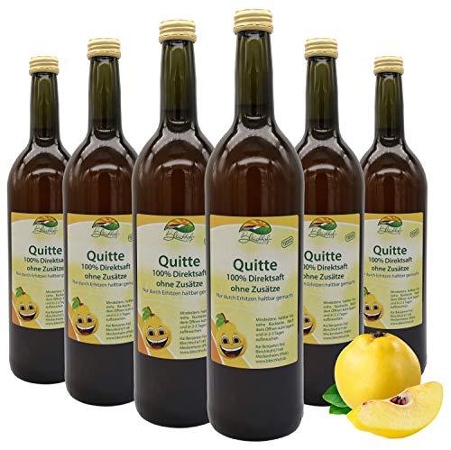 Bleichhof Quittensaft - 100% Direktsaft, naturrein und vegan, OHNE Zuckerzusatz, 6er Pack (6x 0,72l)