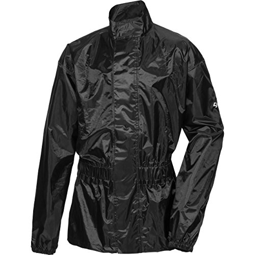 DXR Regenschutz, Regenjacke Textil Regenjacke 1.0, Regenjacke wasserdicht, Unisex, wasserdicht durch verschweißte Nähte, inklusive Mini-Packsack, Polyester, Schwarz, XXL / 2XL