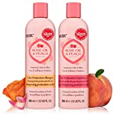 HASK ROSE OIL + PEACH Shampoo and Conditioner Set Color Protecting for all hair types, color safe, gluten-free, sulfate-free, paraben-free, cruelty-free - 1 Shampoo and 1 Conditioner