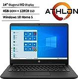 Newest HP 14' HD WLED Backlit High Performance Business Laptop, AMD Athlon Silver 3050U up to 3.2GHz, 4GB DDR4, 128GB SSD, Wireless-AC, HDMI, Bluetooth, Webcam, SD Card Reader, Windows 10 S