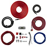 DS18 AK4 Complete 4 Gauge CCA Amplifier Installation Wiring Kit - Ampkit Helps Make Connections, Brings Power to Your Radio, Subwoofers, Speakers with Super Flex Wire - 1200W for 1 Amplifier