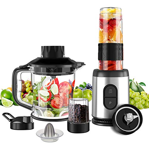 Mini Blender Multifonctionnel 5 en 1 Machine à Smoothie 800W Mixeur...