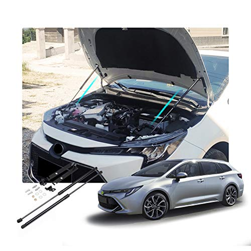 RUIYA per Corolla E210 2019 2020 Asta Idraulica, Cappe Molla a Gas Cappa Idraulica, Realizzato in plastica ABS e lega resistente allo zinco (2 Pezzi)