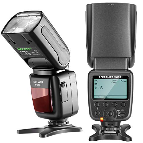 Neewer NW561 LCD Display Flash Speedlite for Canon Nikon Panasonic Olympus Pentax Fijifilm and Sony with Mi Hot Shoe,DSLR and Mirrorless Cameras with Standard Hot Shoe