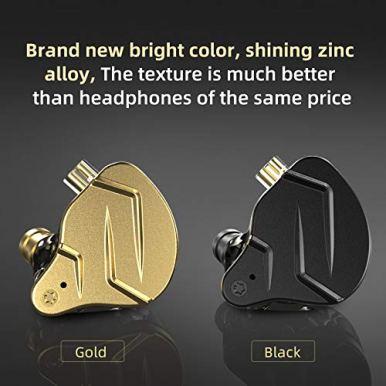 KZ-ZSN-Pro-X-in-Ear-Buds-Earphones-Yinyoo-Hybrid-Dynamic-Driver-Balanced-Armature-Earbuds-Headphones-Dual-Driver-1DD-1BA-Deep-Bass-Stereo-Sound-Ergonomic-Comfortable-Earphones-with-mic-Black