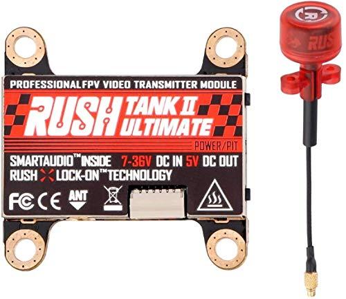 FPV VTX Rush Tank 5,8GHz FPV Video Sender Empfnger mit Externer Audiofrequenz im MMCX-Anschluss Pit Modus Schaltbarer mit RUSH Cherry FPV Antenne fr FPV Racing Drone