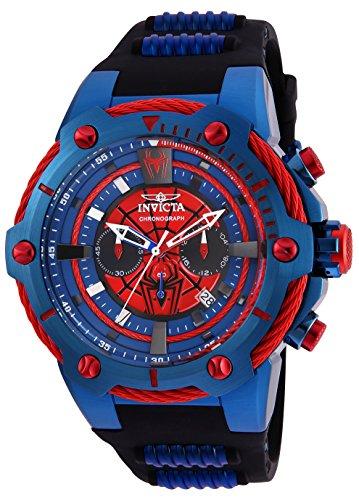 Invicta 25688 Marvel - Spiderman Herren Uhr Edelstahl Quarz roten Zifferblat