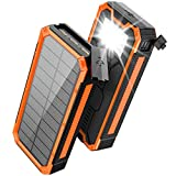 Solar Charger 30000mAh, Solar Power Bank, PD 18W QC 3.0 Quick Charge with 4 Outputs Dual Inputs USB...