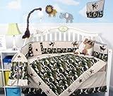 SoHo Baby Crib Bedding 9 Piece Set, Army Camo