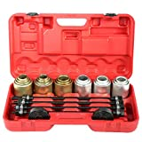 Juego de extractores, 26 piezas de herramientas de eliminación de cojinetes de presión y tracción de cojinetes de prensa, extractor de juntas, cojinete de ejes, herramienta