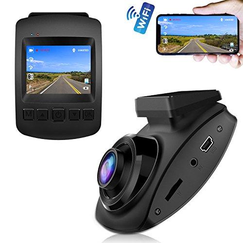 【2020 Nuova Versione】CHORTAU Telecamera per Auto WiFi SONY Sensore Full HD 1080P, Dashcam Schermo da 2 pollici 170 ° Grandangolo, Videocamera per auto con Monitor di Parcheggio