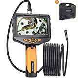 Teslong Industrial Endoscope with 4.5inch IPS Screen, Handhold Waterproof Borescope Inspection Camera with 6 LED Lights, 2600mAh Battery (16.4ft)