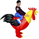 HHARTS Red Cock Inflatable Costume Blow Up Chicken Costume for Halloween Cosplay Party Christmas