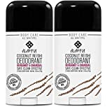 ALAFFIA COCONUT REISHI DEODORANT - Activated Charcoal, Odor Protection and Soothing Support from Shea Butter and Aloe Vera, Without Aluminum, Sulfates, or Parabens, BERGAMOT, 2 Pack)