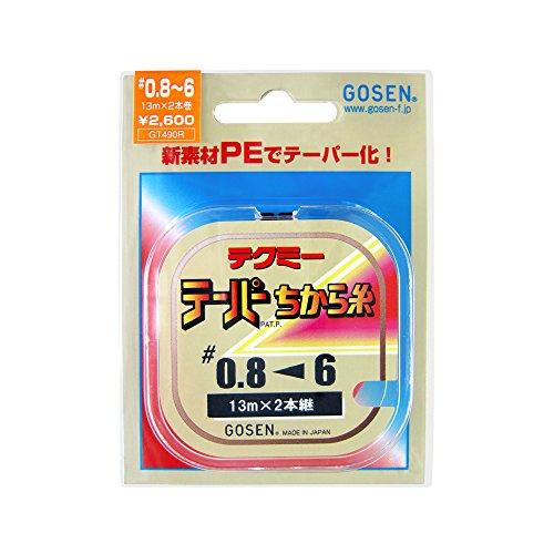 ゴーセン(GOSEN) ライン テクミーPEテーパー 力糸 13m×2本継 赤 レッド 0.8号~6号 GT-490R~
