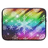 JKOVE Bolsa de Ordenador portátil,Maletín,Laptop Sleeve Case Protective Bag Printed Snowflake Joy Color Ultrabook Briefcase Sleeve Bags Cover for MacBook Pro/Acer/ASUS/Lenovo DELL