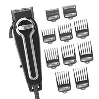 Wahl Clipper Elite Pro High-Performance Home Haircut & Grooming Kit for Men – Electric Hair...