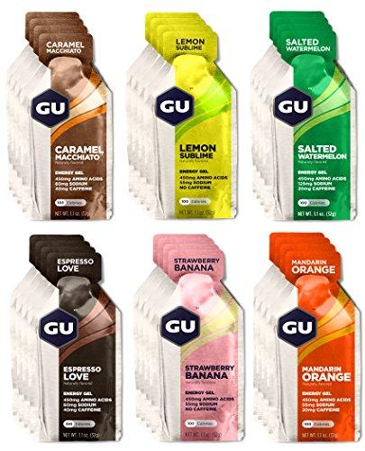 GU Energy Gels - Paquete de 24 Unidades - Seis Sabores Variados