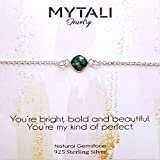 You Are My Kind Of Perfect Emerald 925 Sterling Silver Bracelet 6.5-8 Inches