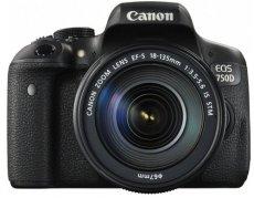 "Canon EOS 750D - Cámara réflex digital de 24.2 MP (Kit con objetivo EF-S 18-55 mm f/3.5-5.6 IS STM, pantalla de 3"", 1080 p, WiFi estabilizador óptico, vídeo Full HD), color negro"