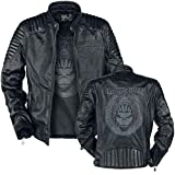 Iron Maiden Book Of Souls Crâne Homme Veste en cuir noir L, 100% Cuir, Regular / Coupe standard