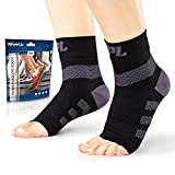 POWERLIX Plantar Fasciitis Support Socks (Pair), Ankle Compression Nano Brace for Women & Men, Toeless Sleeve for Arch and Heel Pain – Better Than Night Splint & Insoles