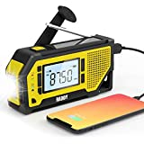 Raddy NW3 Radio Dynamo d'Urgence Recharge Solaire Manivelle, Radio FM/AM...