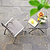 SONGMICS Gartenstuhl Klappstuhl Outdoor-Stuhl mit robustem Aluminiumgestell - 7