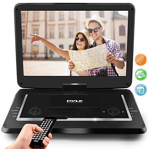 Pyle 17.9 Portable DVD Player, With 15.6 Inch Swivel Adjustable Display Screen, USB/SD Card Memory Readers, Long Lasting Built-in Rechargeable Battery, Stereo Sound with Remote. (PDV156BK)