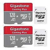 Gigastone Micro SD Card 128GB マイクロSDカード 128 GB 2pack 2個セット 2 SDアダプタ付 2 ミニ収納ケース付 SDXC A1 U1 C10 95MB/S 高速 メモリーカード Class 10 UHS-I FHD 動画
