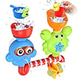 GOODLOGO Bath Toys Bathtub Toys for 1 2 3 Year Old Kids Toddlers Bath Wall Toy Waterfall Fill Spin and Flow Non Toxic Birthday Gift Ideas Color Box