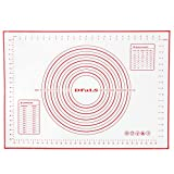 DFaLs Extra Large Silicone Pastry Baking Mat (20x28 Inches) With Marked Measurements, Easy To Wash, Anti Slip, Non Sticky Surface For Kneading And Rolling Dough For Pizza, Pie Crust, Fondant, Cookies