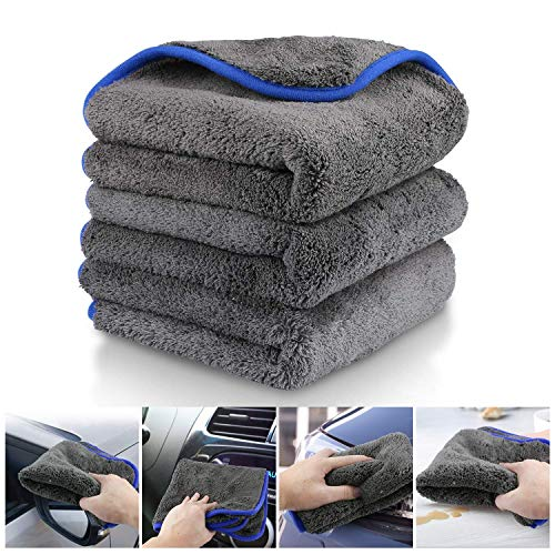 Fixget Auto Trockentuch, 3er Set Auto Wasch Microfaser Trockentücher Handtuch Trocknen...