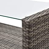 SVITA Roma Gartenmöbel Set Poly-Rattan Möbel Outdoor Lounge Garnitur - 7