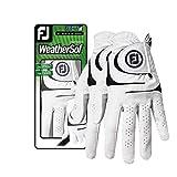 FootJoy Women's WeatherSof Golf Glove, Pack of 2, White Medium, Worn on Left Hand