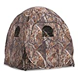 Guide Gear Deluxe Pop-Up Hunting Ground Blind, 1-2 Person Tent, Hunting Gear, Equipment, and Accessories, 4-Panel Spring Steel