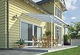Chalet et jardin - 12PERGOLA - Toit Couv' Terrasse - Aurore Aluminium - 3 X...