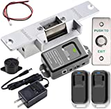 UHPPOTE 2.4GHz WiFi Electric Stike Access Control Door Lock Kit System with Remote and Smartphone app Control