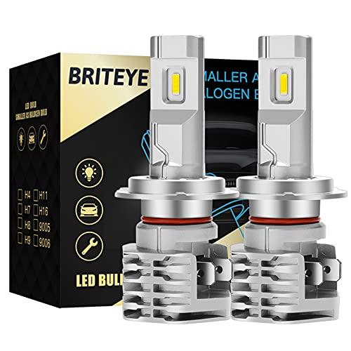 Briteye Lampadine H7 LED Abbaglianti/Anabbaglianti 6500K Bianco Moto Fari 12V-24V DC Luci LED Auto (2 Lampadina)