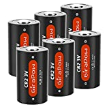 Girapow CR2 3V Lithium Battery, 3 Volt 800mAh Battery with PTC Protected for Golf Rangefinder, Mini 25 50S 70, Flashlight, Calculator, Alarm Systems, 6-Count